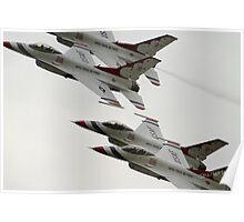 Thunderbirds at Waddington Airshow Poster