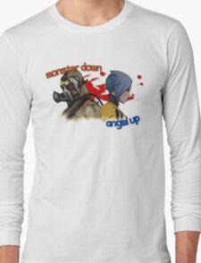 Monster Down, Angel Up Long Sleeve T-Shirt