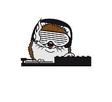 nerd geek hornbrille pickel freak spange schlau intelligent grinsen lustig comic cartoon süßer kleiner niedlicher igel  Photographic Print
