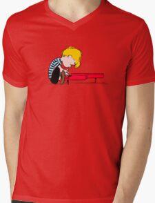 Piano Man Mens V-Neck T-Shirt