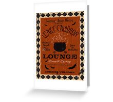 Halloween Lounge Graphic Art Greeting Card