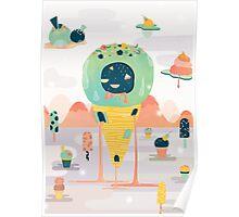 Melting Desert Poster