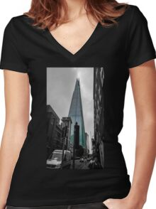 The Shard Women's Fitted V-Neck T-Shirt