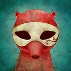 death as a fox in a mask by Kuba Gornowicz
