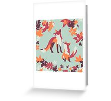 Autumn foxes Greeting Card