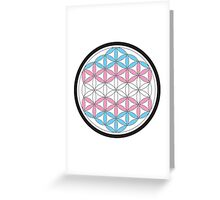 tranSacred geometry Greeting Card
