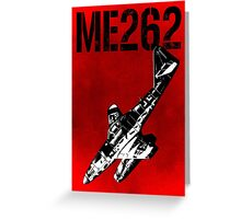 Messerschmitt Me262 Aircraft Greeting Card