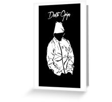 Black Death Grips Hoodie Greeting Card