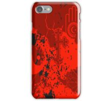 Organic Religion (red) by Cal-and-Ra iPhone Case/Skin