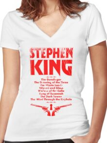 The Dark Tower Series Women's Fitted V-Neck T-Shirt