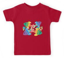 Colorful Fish on a White Background Kids Tee
