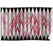 ZigZag with red Poster