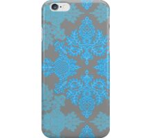 Turquoise Tangle - sky blue, aqua & grey pattern iPhone Case/Skin