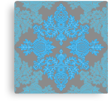 Turquoise Tangle - sky blue, aqua & grey pattern Canvas Print