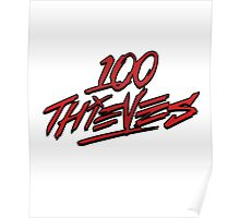 #100Thieves fade red Poster