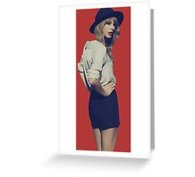 Taylor Swift Red Greeting Card