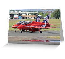 2 Reds Rolling - Farnborough 2014 Greeting Card