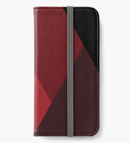 Geo Overlay -Red/Black iPhone Wallet/Case/Skin