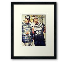 Tupac & E-40 Framed Print