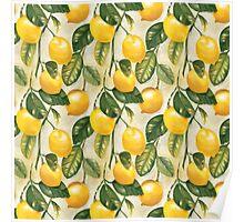 Lemons pattern Poster