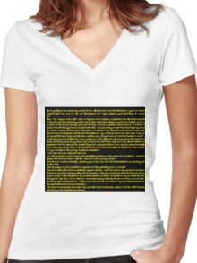 story Women's Fitted V-Neck T-Shirt