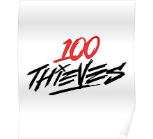 #100Thieves RED Poster