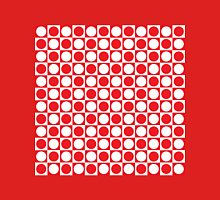 Red and White Squares and Polka Dots  Unisex T-Shirt