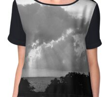 Sunset in Black and White Chiffon Top