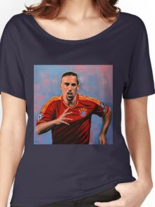 Franck Ribery painting Women's Relaxed Fit T-Shirt