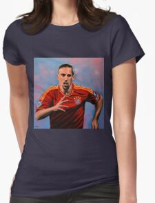 Franck Ribery painting Womens Fitted T-Shirt