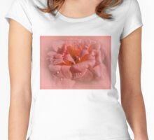 Pink rose Women's Fitted Scoop T-Shirt