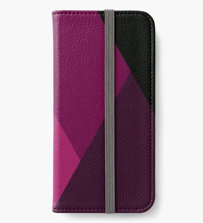 Geo Overlay -Pink/Black iPhone Wallet/Case/Skin