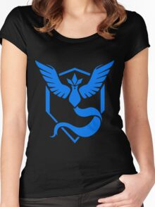 Pokemon Go: Team Mystic Blue  Women's Fitted Scoop T-Shirt