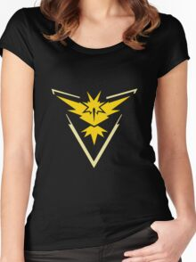 Pokemon Go: Team Instinct Yellow Women's Fitted Scoop T-Shirt