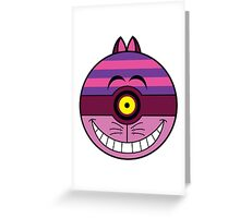 Cheshire Cat Pokemon Ball Mash-up Greeting Card