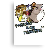 totoro and friends! Canvas Print