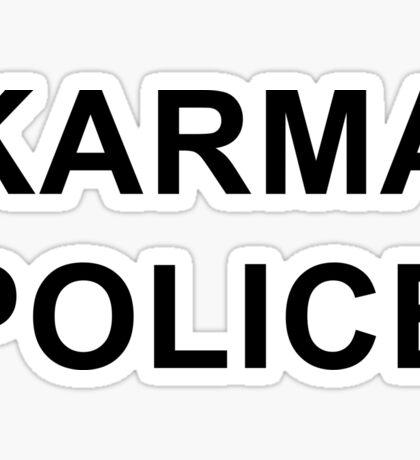 Karma Police - Radiohead / PARKS AND REC Sticker