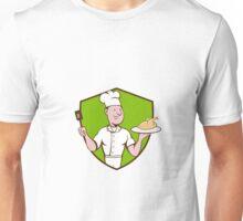 Chef Cook Roast Chicken Spatula Crest Cartoon Unisex T-Shirt