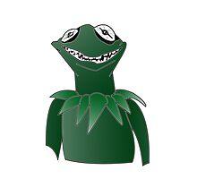 Creepy Kermit Photographic Print