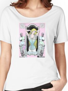 Steampunk Heaven corsets in pink Women's Relaxed Fit T-Shirt