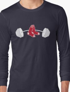 Red Sox Barbell shirt Long Sleeve T-Shirt