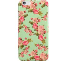 mint,green,pink,floral,vintage,pattern,rustic,victorian,girly iPhone Case/Skin