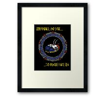 Starscape Black Framed Print