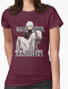 tokyo ghoul monochrome text of kaneki Womens Fitted T-Shirt
