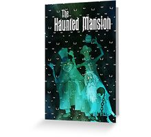 Haunted Mansion's Hitchhiking Ghosts Greeting Card
