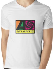Atlantic Records Mens V-Neck T-Shirt