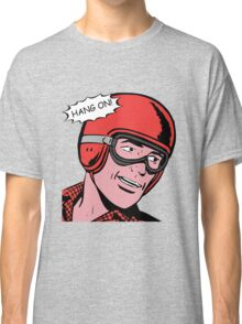 Cartoon Motorcycle - Hang On Classic T-Shirt