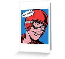 Cartoon Motorcycle - Hang On Greeting Card