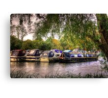 Moored Up boats HDR Canvas Print
