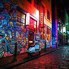 Evening in Hosier Lane by melbournedesign